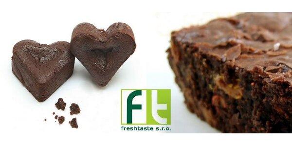 95 Kč za čtyři kusy (450 g) čokoládových brownies. Sladká sleva 57 %.