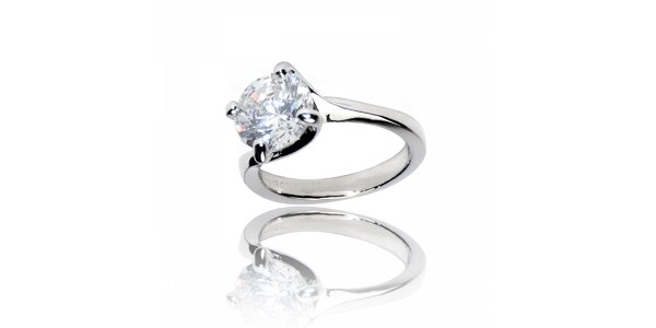 Dámský stříbrný prsten Bague a Dames s kamenem