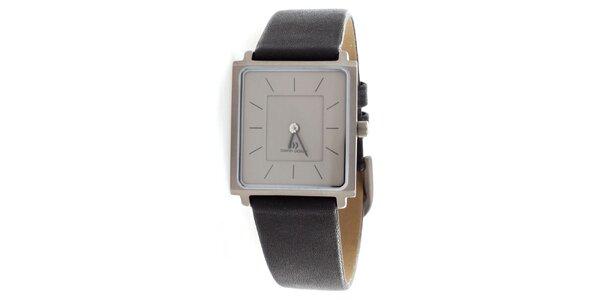 ff0af219c9a Dámské titanové hodinky Danish Design s černým koženým řemínkem
