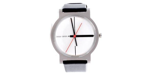 0a1c04320c8 Dámské černobílé hodinky Danish Design s minimalistickým ciferníkem