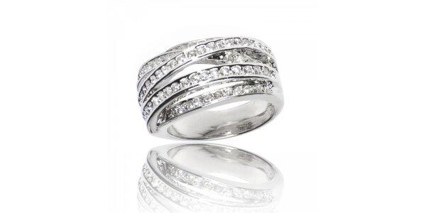 Dámský stříbrný prsten Bague a Dames s bílými zirkony