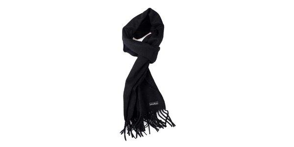 Černá vlněná šála Fraas