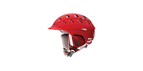 Červená lyžařská helma Smith