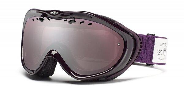 Dívčí tmavě fialové lyžařské brýle Smith Optics