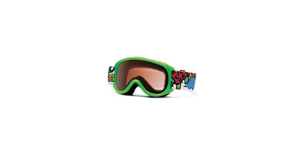 Dětské světle zelené lyžařské brýle Smith Optics