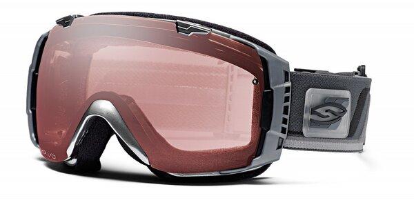 Tmavě šedé lyžařské brýle Smith Optics se sférickými skly