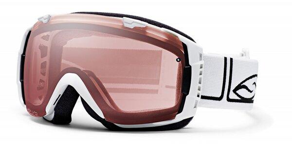 Bílé lyžařské brýle Smith Optics se sférickými skly