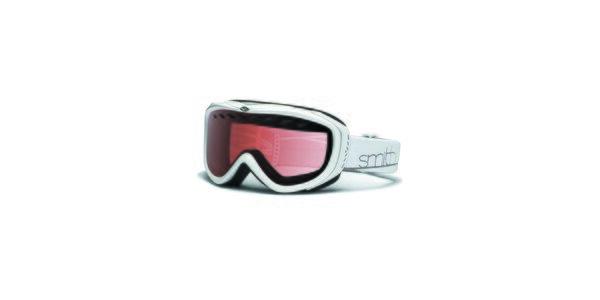 Menší bílé lyžařské brýle Smith Optics