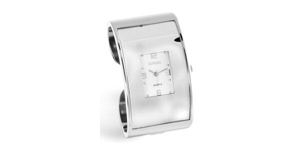 Dámské stříbrné náramkové hodinky Bague a Dames