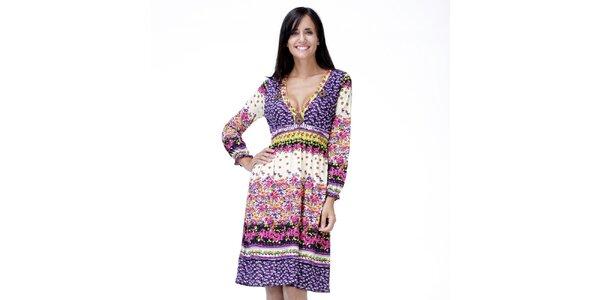 Dámské světlé květinové šaty Peace&Love
