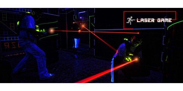 15 minut adrenalinové Laser game pro 1 osobu