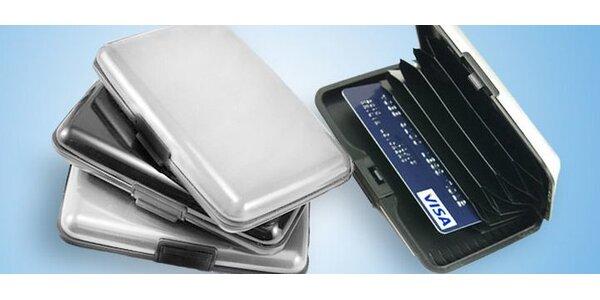 Hliníkové pouzdro na peníze a doklady včetně poštovného.