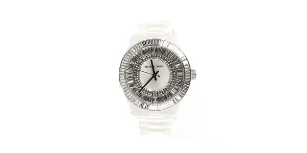 Dámské sněhobílé keramické hodinky Michael Kors
