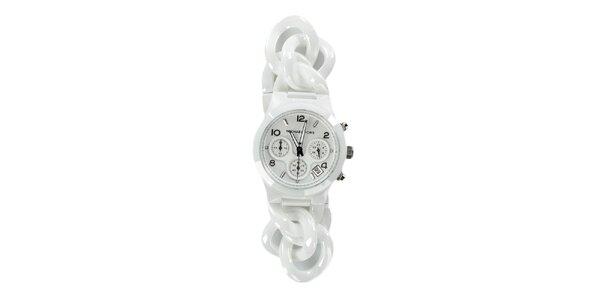 Dámské bílé keramické hodinky Michael Kors