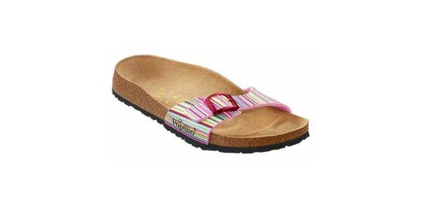 Dámské barevné pruhované pantofle Papillio