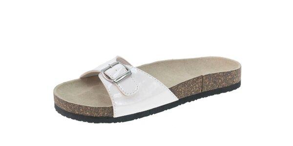 Dámské bílé lakované pantofle Beppi