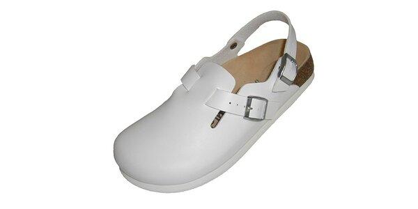 Bílé uzavřené pantofle Betula
