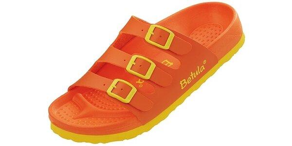 Dámské oranžovo-žluté pantofle Betula