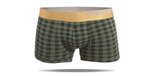 Pánské kostkované boxerky s nohavičkou značky Mosmann z edice Gold