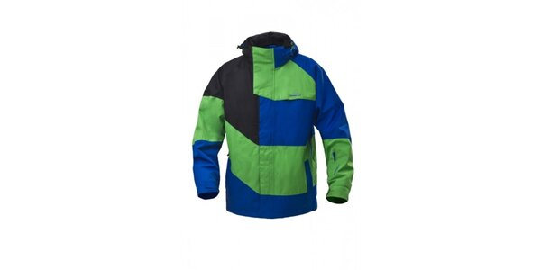 Pánská snowboardová zeleno-modrá bunda Envy