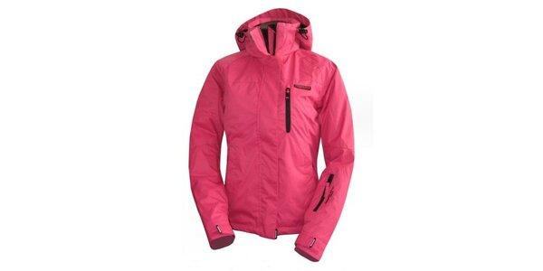 Dámská růžová bunda s černými zipy Envy
