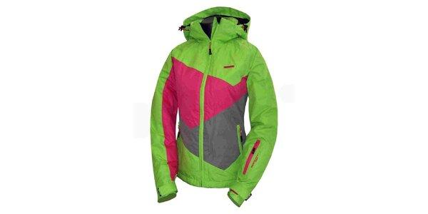 Dámská zeleno-růžová technická bunda Envy