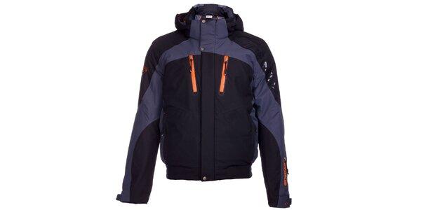 Pánská šedo-černá zimní lyžařská bunda West Scout s membránou