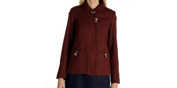 Dámský krátký červeně vzorovaný kabátek Laga