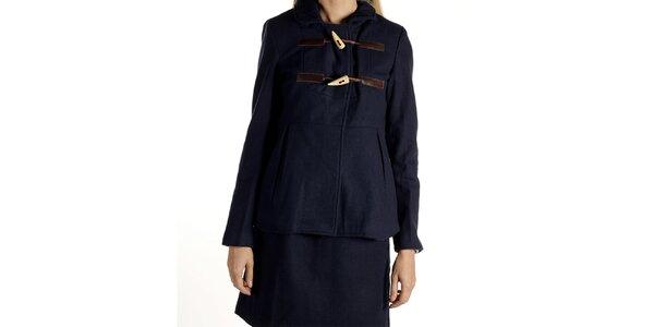 Dámský tmavě modrý kabátek s olivkami Laga