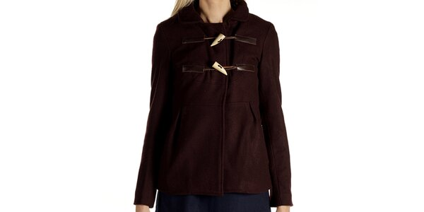 Dámský hnědý kabátek s olivkami Laga