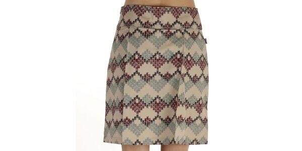 Dámská krátká modrohnědě vzorovaná sukně Laga
