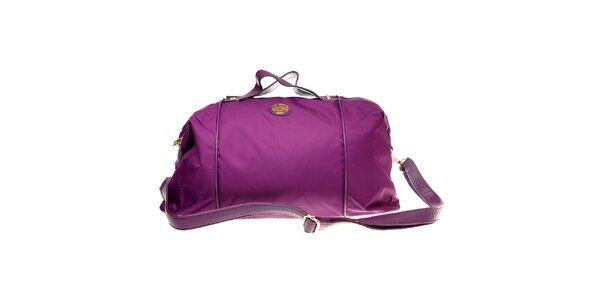 Dámská fialová kabelka Hope se zlatými detaily