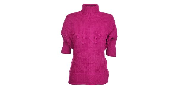 Dámský sytě růžový svetr Hope s rolákem
