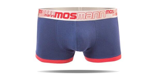 Pánské modré boxerky s nohavičkou značky Mosmann z edice Racer