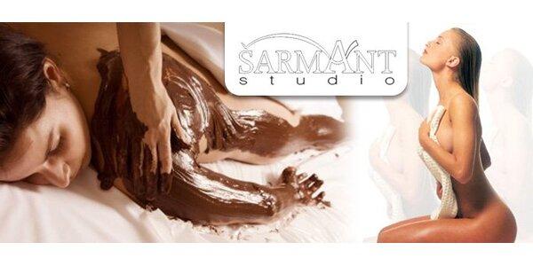 400 Kč za exkluzivní celotělovou masáž horkou čokoládou. Sleva 50%.