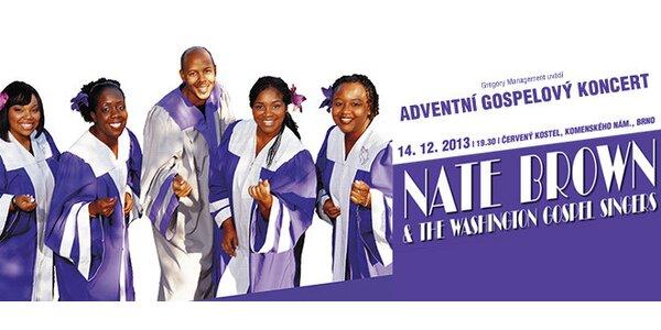 Gospelové Vánoce s Natem Brownem v Červeném kostele