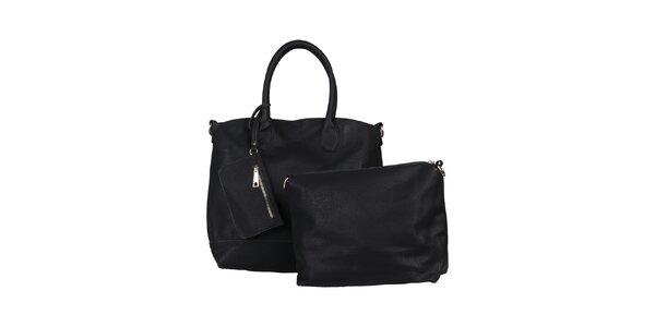 Dámská černá kabelka s vyjímatelnou taštičkou Dudlin