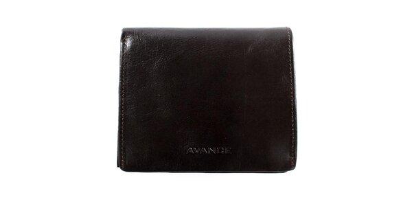 Tmavě hnědá čtvercová peněženka Menbur