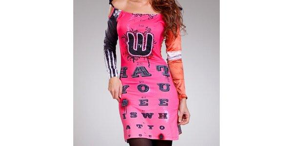 Dámské barevné šaty se šněrovacími ramínky Culito from Spain