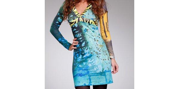 Dámské šaty se zebrovanými lemy Culito from Spain