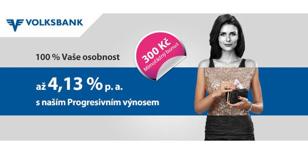 Exkluzivní nabídka od Volksbank s 300 Kč bonusem