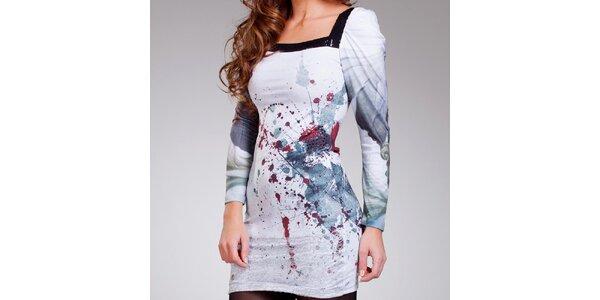 Dámské šedomodré šaty s cákanci Culito from Spain
