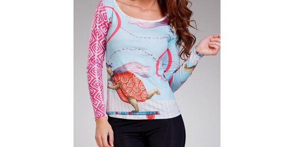 Dámské tričko s potiskem želviček Culito from Spain