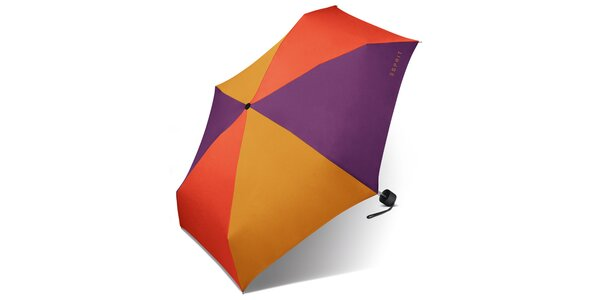 Tříbarevný skládací deštník Esprit
