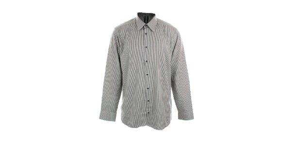 Pánská černo-bíle proužkovaná košile Pietro Filipi