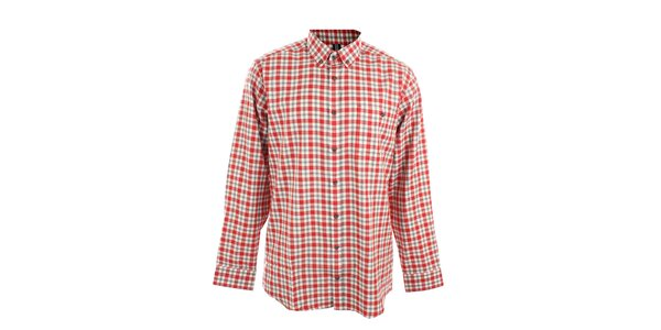 Pánská červeně kostkovaná košile Pietro Filipi