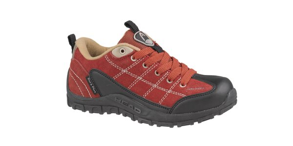 Dětská červená nízká trekingová obuv Head
