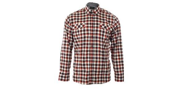 Pánská červená károvaná košile Pietro Filipi
