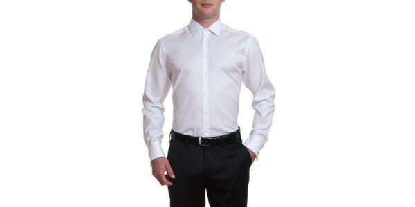 Pánská bílá bavlněná košile Pietro Filipi