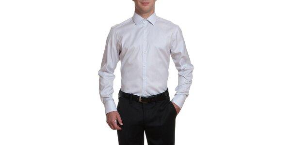 Pánská šedobílá bavlněná košile Pietro Filipi